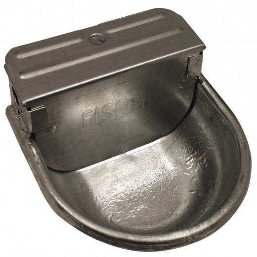 Drikkekop galvaniseret med svømmer-30